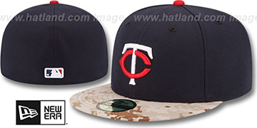 Twins 2015 STARS N STRIPES Fitted Hat by New Era