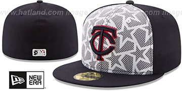 Twins '2016 JULY 4TH STARS N STRIPES' Fitted Hat by New Era