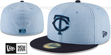 Twins 2018 FATHERS DAY Sky-Navy Fitted Hat by New Era