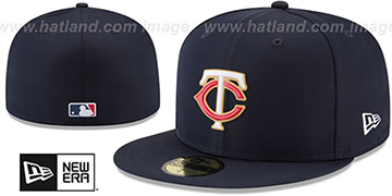 Twins 2018 PROLIGHT-BP Navy Fitted Hat by New Era