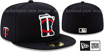 Twins DASHMARK BP Navy Fitted Hat by New Era