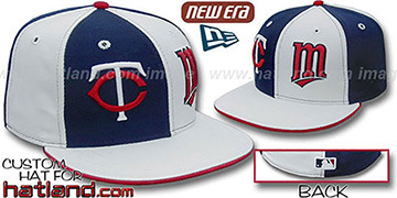 Twins 'DOUBLE WHAMMY' Navy-White Fitted Hat