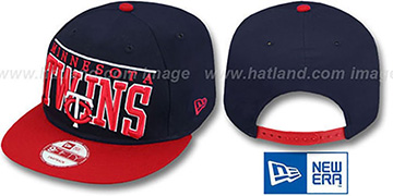 Twins 'LE-ARCH SNAPBACK' Navy-Red Hat by New Era