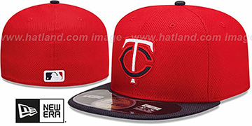 Twins MLB DIAMOND ERA 59FIFTY Red-Navy BP Hat by New Era