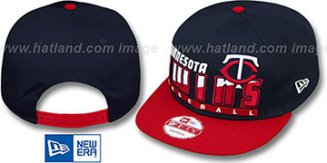 Twins 'SLICE-N-DICE SNAPBACK' Navy-Red Hat by New Era