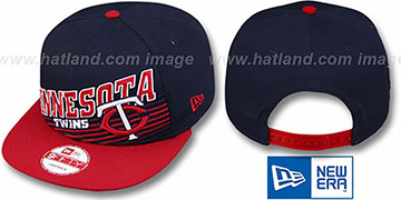 Twins STILL ANGLIN SNAPBACK Navy-Red Hat by New Era