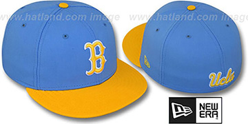 UCLA '2T NCAA-BASIC' Sky-Gold Fitted Hat by New Era