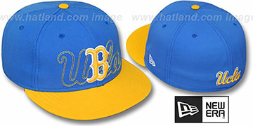 UCLA '2T SHADOW NCAA-BASIC' Sky-Gold Fitted Hat by New Era