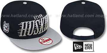 UCONN 'SAILTIP SNAPBACK' Navy-Grey Hat by New Era