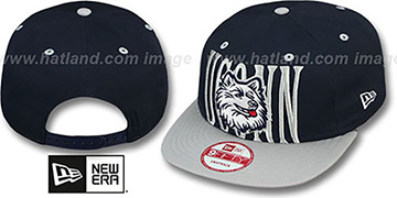 UCONN 'STEP-ABOVE SNAPBACK' Navy-Grey Hat by New Era