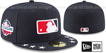 Umpire 2018 MLB ALL-STAR WORKOUT Navy Fitted Hat by New Era
