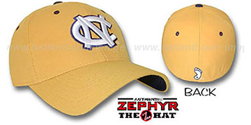UNC 'DH' Fitted Hat by ZEPHYR - gold