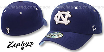 UNC 'DH' Fitted Hat by ZEPHYR - navy