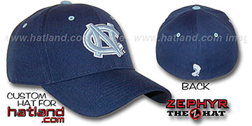 UNC 'DH' Navy-Columbia Fitted Hat by ZEPHYR