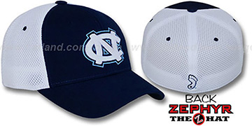 UNC 'SHORTSTOP' Fitted Hat by Zephyr - navy-white