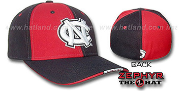 UNC 'TWIST' Red-Black Fitted Hat by Zephyr
