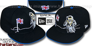 United Kingdom 'MOONMAN' Black Fitted Hat by New Era
