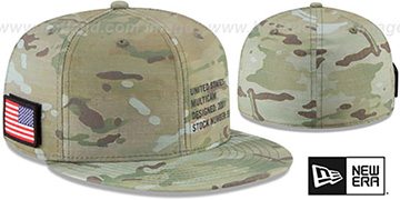United States 'COUNTRY CAMO' Woodland Fitted Hat by New Era