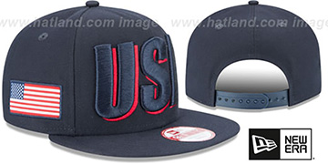 United States COUNTRY CHEER SNAPBACK Navy Hat by New Era