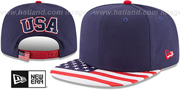 United States 'FLAG VIZE SNAPBACK' Navy Hat by New Era