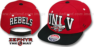 UNLV 2T BLOCKBUSTER SNAPBACK Red-Black Hat by Zephyr