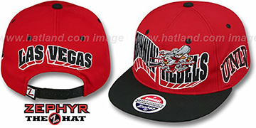 UNLV '2T FLASHBACK SNAPBACK' Red-Black Hat by Zephyr