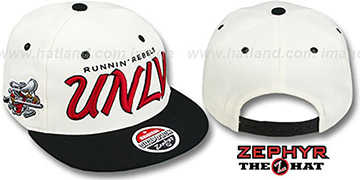 UNLV '2T HEADLINER SNAPBACK' White-Black Hat by Zephyr