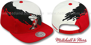 UNLV PAINTBRUSH SNAPBACK White-Black-Red Hat by Mitchell & Ness