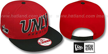 UNLV SNAP-IT-BACK SNAPBACK Red-Black Hat by New Era