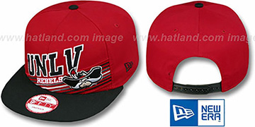 UNLV STILL ANGLIN SNAPBACK Red-Black Hat by New Era