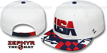 USA MARYLAND FLAG SNAPBACK White Hat by Zephyr