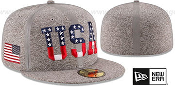 UNITED STATES PRIDE FLECT Grey Fitted Hat by New Era