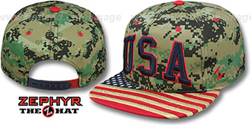 USA 'SUPERSTAR SNAPBACK' Army Hat by Zephyr