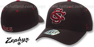 USC COCKS DH Fitted Hat by ZEPHYR - black