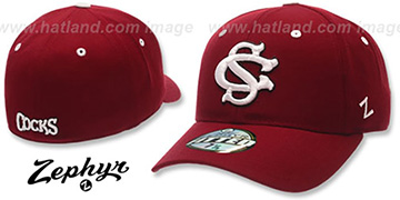 USC COCKS DH Fitted Hat by ZEPHYR - burgundy