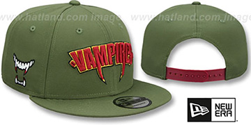 Vampires HALLOWEEN COSTUME SNAPBACK Olive Hat by New Era