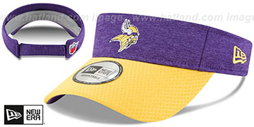 Vikings 18 NFL STADIUM Purple-Gold Visor by New Era