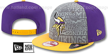 Vikings '2014 NFL DRAFT SNAPBACK' Purple-Gold Hat by New Era