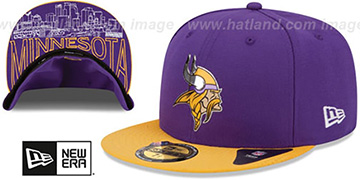 Vikings 2015 NFL DRAFT Purple-Gold Fitted Hat by New Era