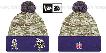 Vikings '2015 SALUTE-TO-SERVICE' Knit Beanie Hat by New Era