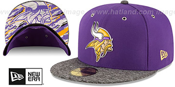 Vikings '2016 NFL DRAFT' Fitted Hat by New Era