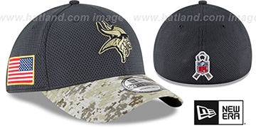 Vikings '2016 SALUTE-TO-SERVICE FLEX' Grey-Desert Hat by New Era