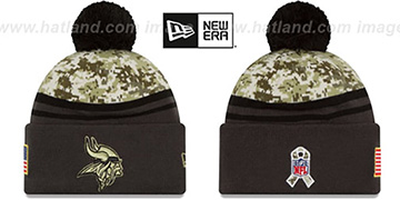 Vikings '2016 SALUTE-TO-SERVICE' Knit Beanie Hat by New Era