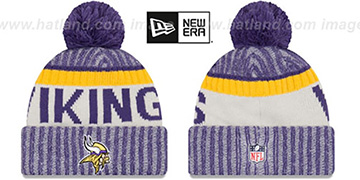 Vikings '2017 STADIUM BEANIE' Purple Knit Hat by New Era