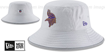 Vikings 2018 NFL TRAINING BUCKET Grey Hat by New Era