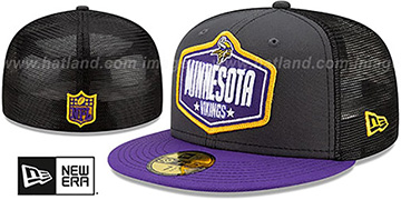 Vikings 2021 NFL TRUCKER DRAFT Fitted Hat by New Era