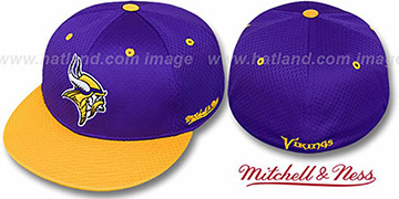 Vikings '2T BP-MESH' Purple-Gold Fitted Hat by Mitchell & Ness