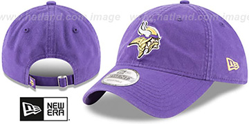 Vikings CORE-CLASSIC STRAPBACK Purple Hat by New Era