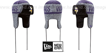 Vikings FROSTWORK TRAPPER Purple Knit Hat by New Era