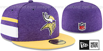 Vikings HOME ONFIELD STADIUM Purple-Gold Fitted Hat by New Era